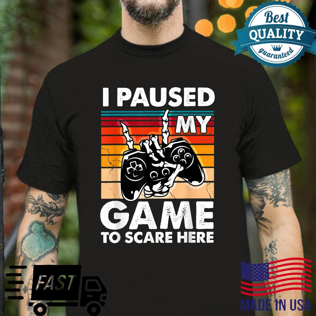 I Pause My Game To Scare Herefunny Gamer Halloween 2021 Shirt Masswerks Store